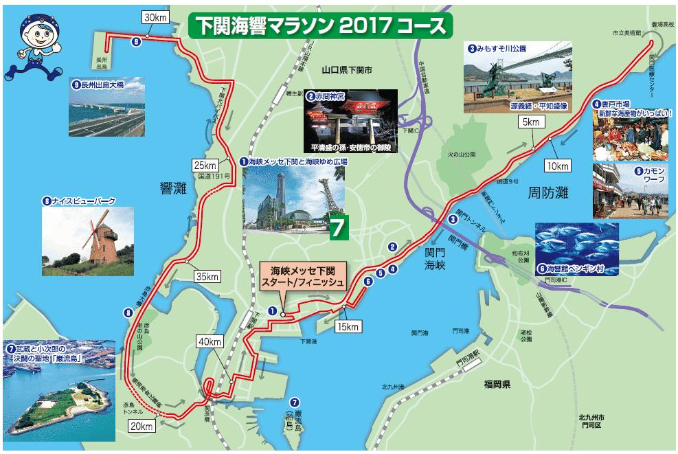 下関海峡マラソン コース