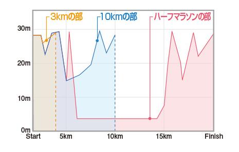 成田POPラン 高低差