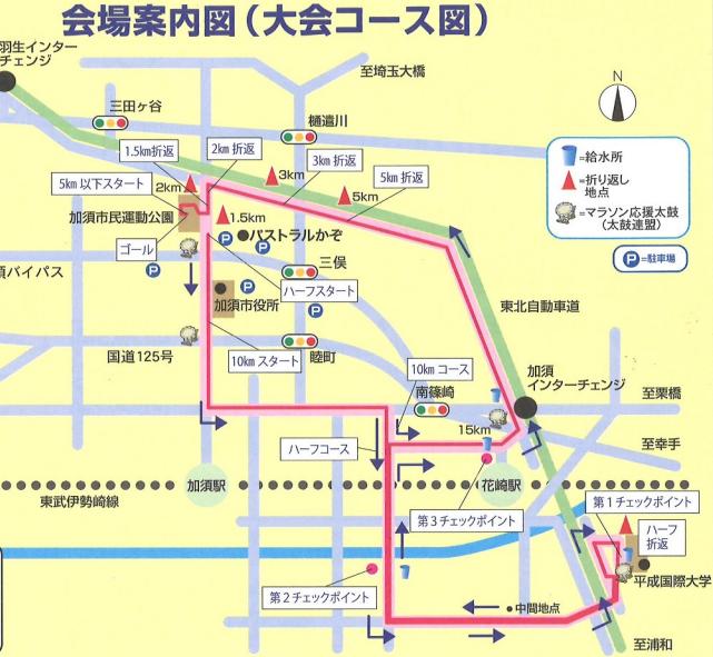 加須こいのぼりマラソン コース 攻略