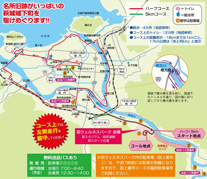 維新の里萩城下町マラソン コース 攻略