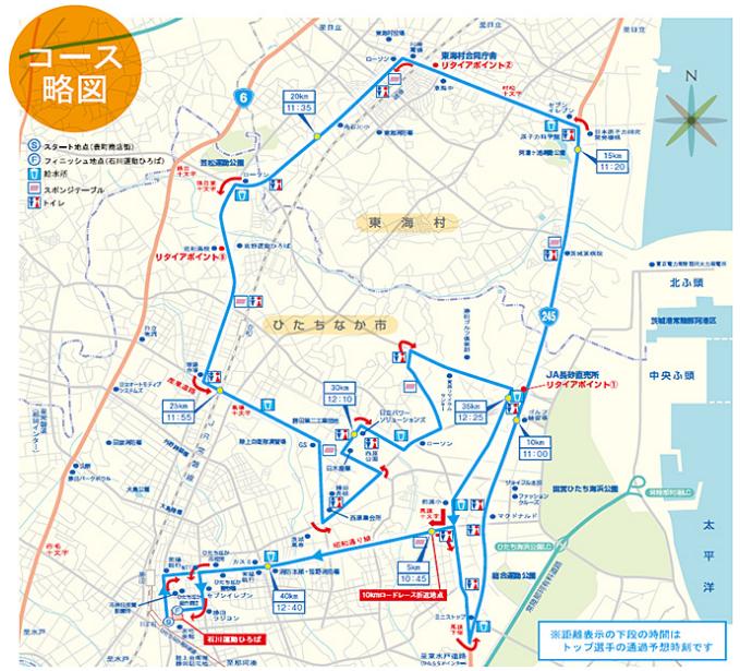 勝田全国マラソン コース 攻略