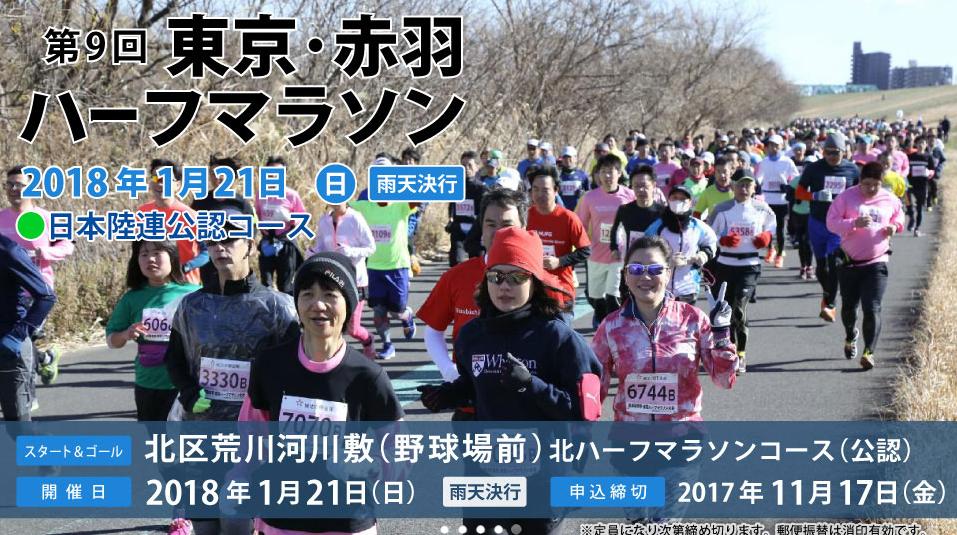 東京赤羽ハーフマラソン 結果