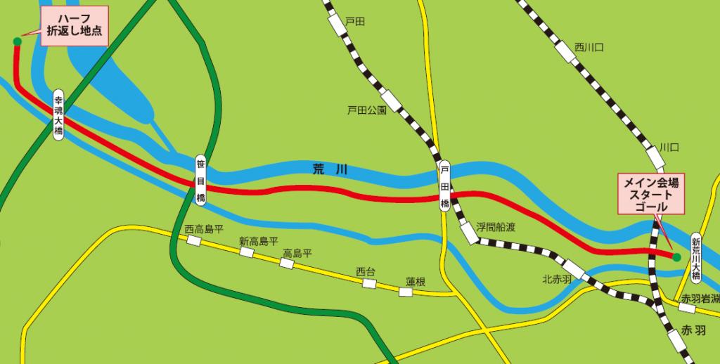 東京赤羽ハーフマラソン コース 攻略
