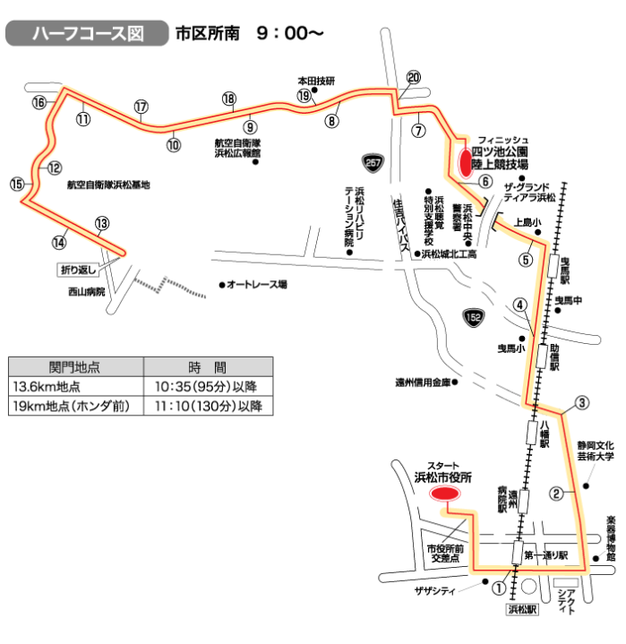 浜松シティマラソン コース