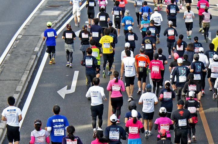 呉とびしまマラソン 写真