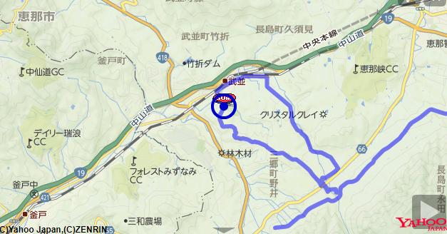 恵那峡ハーフマラソン コース