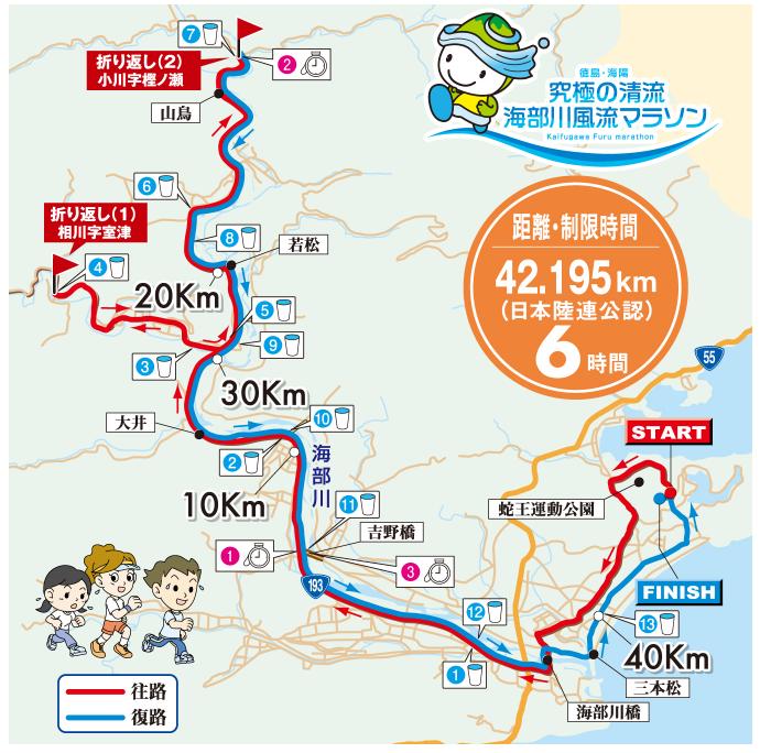 海部川風流マラソン コース