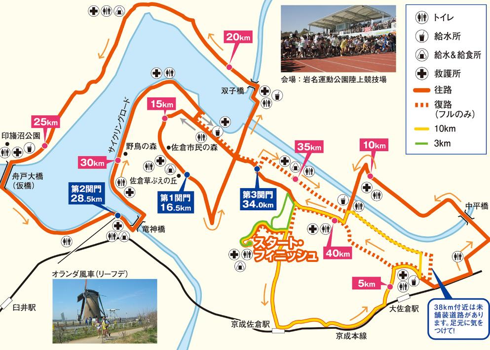 佐倉朝日健康マラソン コース
